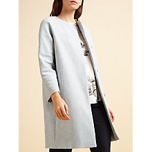 Buy Modern Rarity Textured Coat, Blue Online at johnlewis.com