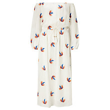 Buy Somerset by Alice Temperley Embroidered Leaf Off The Shoulder Dress, White Online at johnlewis.com