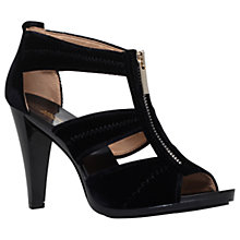 Buy MICHAEL Michael Kors Berkley Zip Front Cone Heeled Sandals Online at johnlewis.com