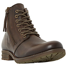 Buy Dune Cargo Double Zip Round Toe, Brown Online at johnlewis.com