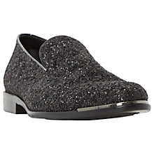Buy Dune Rockstar Glitter Loafers, Black Online at johnlewis.com
