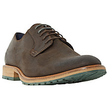Buy Dune Bunker Plain Cleated Derby Shoes, Brown Online at johnlewis.com