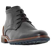 Buy Dune Chipper Cleated Sole Leather Chukka Boots, Black Online at johnlewis.com