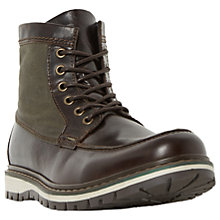 Buy Dune Conker Apron Stitch Lace-Up Leather Boots, Brown Online at johnlewis.com