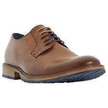 Buy Dune Bunker Plain Cleated Derby Shoes, Tan Online at johnlewis.com