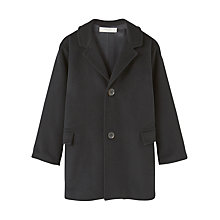 Buy Mango Kids Boys' Pockets Wool Rich Coat, Black Online at johnlewis.com