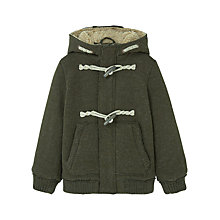 Buy Mango Kids Boys' Faux Shearling Knitted Jacket Online at johnlewis.com