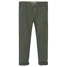 Buy Mango Kids Boys' Chinos, Green Online at johnlewis.com