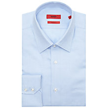 Buy HUGO by Hugo Boss C-Enzo Pattern Regular Fit Shirt, Light Blue Online at johnlewis.com