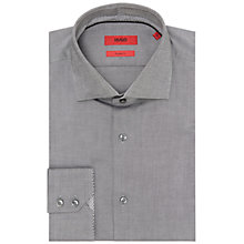 Buy HUGO by Hugo Boss Eraldi Oxford Cotton Regular Fit Shirt, Black Online at johnlewis.com