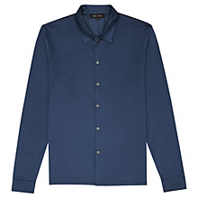 Buy Reiss Felix Mercerised Cotton Shirt, Airforce Online at johnlewis.com
