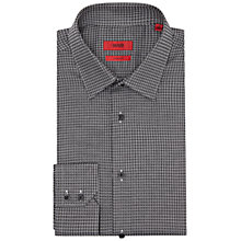 Buy HUGO by Hugo Boss C-Enzo Pattern Regular Fit Shirt, Black Online at johnlewis.com