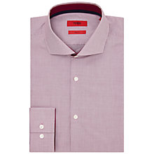 Buy HUGO by Hugo Boss Jery Micro Check Slim Fit Shirt, Purple Online at johnlewis.com