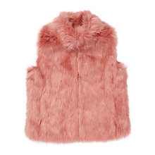 Buy Jigsaw Girls' Fluffy Faux Fur Gilet, Pink Online at johnlewis.com