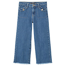 Buy Mango Kids Girls' Flared Jeans, Blue Denim Online at johnlewis.com