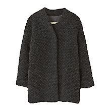 Buy Mango Kids Girls' Textured Wool Blend Coat, Grey Online at johnlewis.com