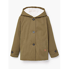 Buy Mango Kids Girls' Faux Shearling Coat, Khaki Online at johnlewis.com