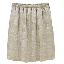 Buy Mango Kids Girls' Metallic Midi Skirt, Gold Online at johnlewis.com