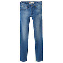 Buy Levi's Boys 520 Skinny Fit Tapered Jeans, Indigo Online at johnlewis.com