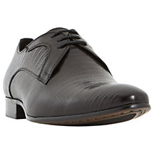 Buy Dune Raptor Emboss Point Derby Shoes, Black Online at johnlewis.com