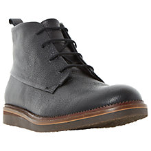 Buy Dune Camden Lock Flecked Wedge Grain Leather Chukka Boots, Black Online at johnlewis.com