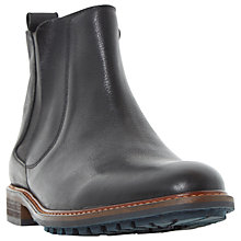 Buy Dune Chipp Cleated Sole Leather Chelsea Boots, Black Online at johnlewis.com