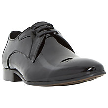Buy Dune Runner Patent Point Shoes, Black Online at johnlewis.com