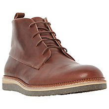 Buy Dune Camden Lock Flecked Wedge Leather Chukka Boots, Tan Online at johnlewis.com