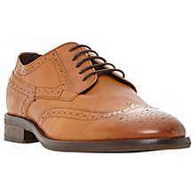 Buy Bertie Butcher Round-Toe Leather Derby Brogues, Tan Online at johnlewis.com
