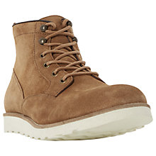 Buy Dune Conrad Wedge Sole Lace-Up Suede Boots, Tan Online at johnlewis.com