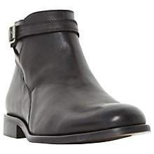 Buy Dune Mungo Single Buckle Strap Leather Boots, Black Online at johnlewis.com