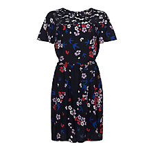 Buy Yumi Girl Swallow and Blossom Print Dress, Navy Online at johnlewis.com