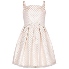 Buy Yumi Girl Jacquard Prom Dress, Gold Online at johnlewis.com