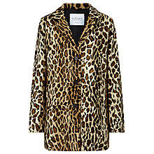 Buy Velvet Celine Faux Fur Leopard Print Coat, Saharan Online at johnlewis.com