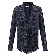 Buy Velvet Flynn Frayed Hem Cardigan, Cobalt Online at johnlewis.com