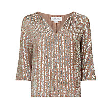 Buy Velvet Wenn Sequin Top, Deep Taupe Online at johnlewis.com