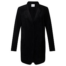 Buy Velvet Constance Faux Suede Blazer, Black Online at johnlewis.com