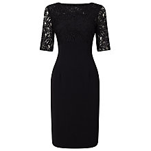 Buy Jacques Vert Lace Top Dress, Black Online at johnlewis.com