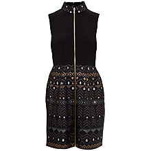 Buy Ted Baker Dasia Sparkle Collar Dress, Black Online at johnlewis.com