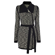 Buy Karen Millen Stripe Tweed Cardigan, Black & White Online at johnlewis.com
