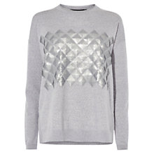 Buy Karen Millen Geometric Sequin Jumper Online at johnlewis.com