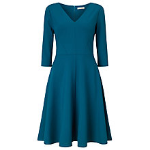 Buy Jacques Vert Ponte Skater Fit and Flare Dress, Dark Green Online at johnlewis.com