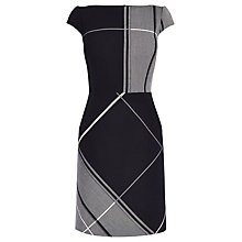 Buy Karen Millen Bold Check Dress, Navy Online at johnlewis.com