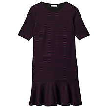 Buy Precis Petite Flippy Hem Dress, Black Online at johnlewis.com