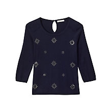 Buy Precis Petite Shay Jumper, Navy Online at johnlewis.com