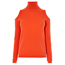 Buy Karen Millen Cashmere Cold Shoulder Jumper Online at johnlewis.com
