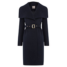 Buy Oasis Josie Luxe Belted Coat, Navy Online at johnlewis.com