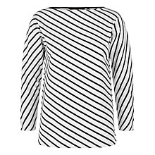 Buy Jaeger Diagonal Breton Top, White Online at johnlewis.com