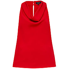 Buy Ted Baker Areio Cowl neck Top, Bright Red Online at johnlewis.com