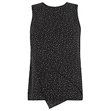 Buy Warehouse Spot Layered Shell Top, Black Online at johnlewis.com
